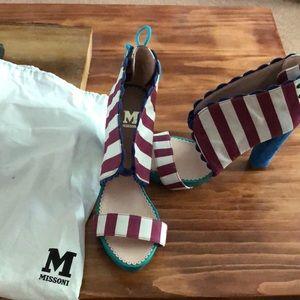 """NWOT Missoni 4.5"""" heels."""
